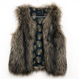 ANTHROPOLOGIE x Sanctuary | faux fur vest jacket